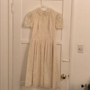 Gal Meets Glam Cream Dress